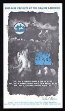 72a ~ 1 3-5 1969 AMBOY DUKES Stooges RUSS GIBB Grande Ballroom HANDBILL Postcard
