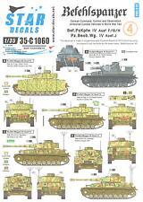 Star Decals 1/35 BEFEHLSPANZER Panzer IV Tanks & Panzer IV Variants