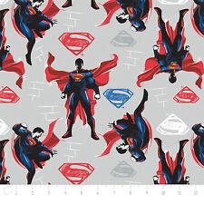 Batman Vs Superman Light grey Camelot 100% cotton Fabric by the yard