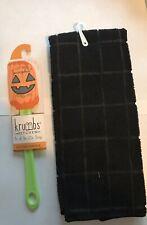 Fall Halloween Pumpkin Spatula & Black Kitchen Towel Utensils Cooking Tools