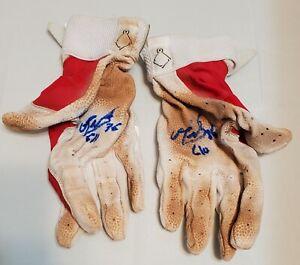 Red Sox EDUARDO NUNEZ 2018 signed Game Used ADIDAS Batting Gloves