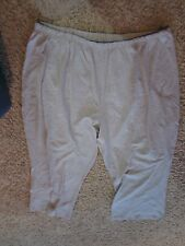 """All American Comfort cotton/poly/lycra size 3X gray stretch pants 28"""" inseam"""