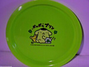 "Plate Hello Kitty and Friends Kids Sanrio 7""  Green Hearts Flower Animals"