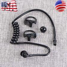 Black Accoustic Ear Tube+ Black Medium Earmold For Police Radio Earpiece (pair)