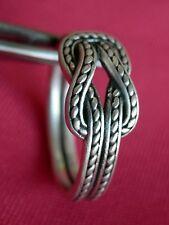 David Yurman Sterling Silver Men's Maritime Reef Knot Band Ring Size 12