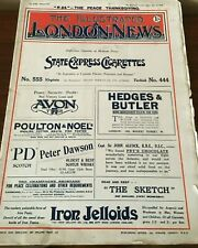 "The Illustrated London News~ July 12,1919  ""R34"" THE PEACE THANKSGIVING"