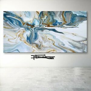Abstract Painting RESIN Canvas Wall Art Large Framed SIGNED US ELOISExxx