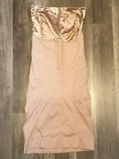 SPANX SLIMMER & SHINE STRAPLESS FULL SLIP ROSE GOLD sz S SMALL NWOT