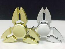 2 Pcs SILVER & GOLD Fidget Spinner Metallic Brass , Retail Package.USA Seller