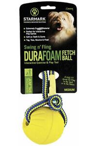 Starmark Swing n' Fling DuraFoam Fetch Ball Medium Toy For Dogs