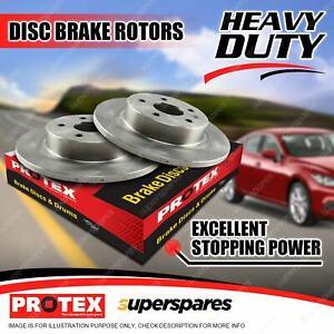 Pair Rear Protex Disc Brake Rotors for Citroen CX Series CX2400 2500i E 10/77-85