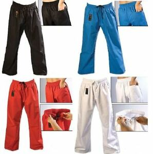 ProForce Combat Karate PANTS Martial Arts Taekwondo Training ALL COLORS