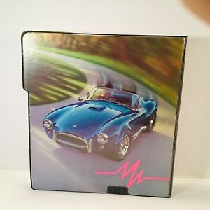 Vintage 1991 Mead Fast Lane Sports Car All-in-one-binder