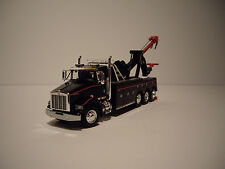 DCP 1/64 BLACK WITH RED STRIPES KENWORTH T800 9055 CENTURY RECOVERY&TOWING UNIT