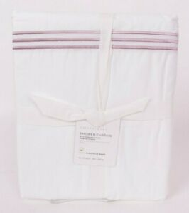 Pottery Barn Soft Rose Grand Embroidered organic shower curtain, *on hand now