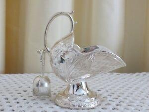 Vintage NEW in Box 70s Silver-plated Zinc Alloy Art Nouveau Mini Sugar Scuttle