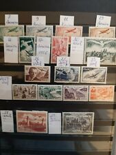 LOT TIMBRES FRANCE POSTE AERIENNE 1936 - 1950