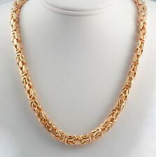 """318.50 gm 14k Rose Gold Solid Men's Women's Byzantine Chain Necklace 30"""" 7.80 mm"""