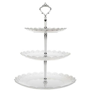 3 Tier Cake Stand Afternoon Tea Wedding Plates Party Tableware Plastic Tray