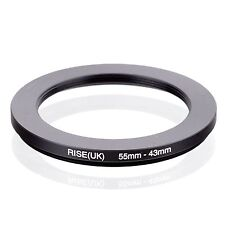 Camera 55mm Lens to 43mm Accessory Step Down Adapter Ring 55mm-43mm