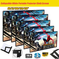 60/84/100/120'' Foldable 1080P Hanging Projector Movie Screen 16:9 Home Cinema
