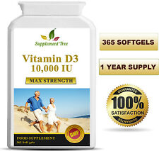 Vitamin D3 10000iu 365 Soft Gel capsules High Strength Vitamin D 10,000iu Vit d