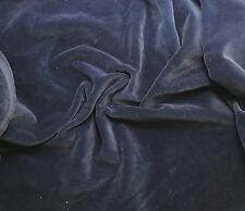 """Hand Dyed Cotton VELVETEEN Fabric DENIM BLUE fat 1/4 18""""x27"""" remnant"""