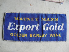 Vintage 1960s Watney Mann Export Gold Golden Barley Wine Bar Used Towel