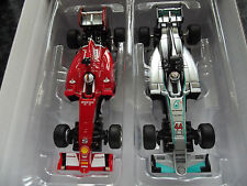 Carrera Go f1 voiture Set Ferrari sf15 Démon no5 VS Mercedes Hamilton no44 slotcars