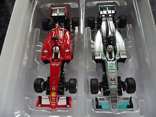 Carrera Go F1 Auto Set Ferrari SF15 Vettel No5 vs Mercedes Hamilton No44 Slotcar