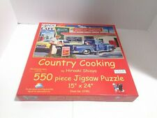 "550 piece puzzle Sunsout "" Country Cooking"" by Hiroaki Shioya  COMPLETE"