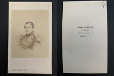 Géruzet, Bruxelles, Léopold I, roi des Belges Vintage carte de visite, CDV.