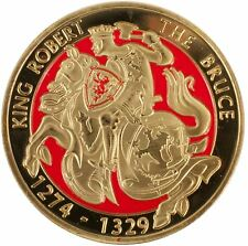 40mm Souvenir Coin With King Robert The Bruce Horse Design On One Side