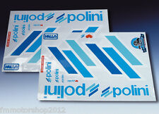 Kit adesivi scooter Stickers Originale Team POLINI SX DX contorno Bianco 225.031