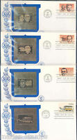 UNITED STATES LOT OF FOUR 1983  FDCS WITH 23 kt GOLD REPLICAS UNADDRESSED