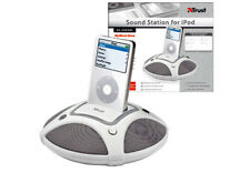 NEW TRUST 14878 BRAND 12W SOUND & CHARGING STATION FOR iPOD