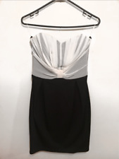 New Lipsy London Black and White Strapless Cocktail Dress