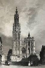 Anvers gravure par Rouargue circa 1859 Belgique Belgien