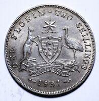 1931 Australia One 1 Florin - George V - Lot 624