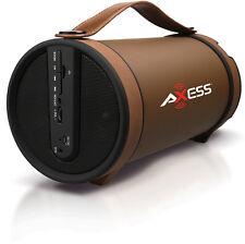 Axess SPBT1033BR Br Portable Bluetooth Speakers 2.1 Hifi Loud Speaker W/4 In Sub