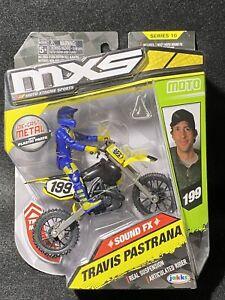 Travis Pastrana MXS Motocross Sound FX Bike Rider Series 10 RARE #199 Jakks