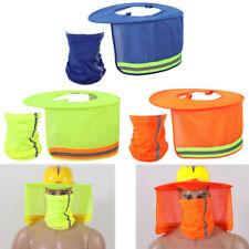 Hard Hat Sun Shade Neck Protection High Visibility Shield Full Brim Meshscarf