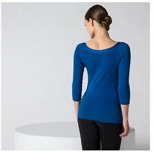 Wolford® CORDOBA SHIRT (PULLOVER) in BRILLIANT BLUE M 36/38/40 Cotton Mix BLAU