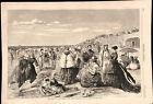 Long Branch beach New Jersey tourism 1868 Jewett art old historical print