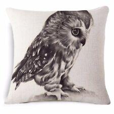 little owl cushion cover new