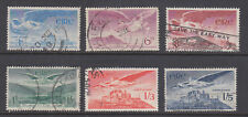 Ireland Sc C2-C7 used. 1948-65 Air Mail issues, run of 6 values, sound, F-VF