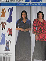 Knit Dress and Tunic Misses size 10-18 Simplicity 2544 Sewing Pattern