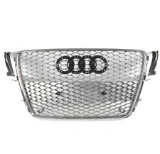 GREY/CHROME TRIM RS5 STYLE FRONT MESH HEX GRILLE FOR 2008-2012 AUDI A5/S5 B8 8T