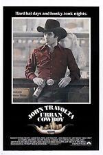URBAN COWBOY vintage movie poster JOHN TRAVOLTA western rugged PRIZED 24X36