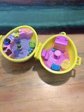 Polly Pocket 2001 Origin Products Easter Egg Doll Basket Bluebird Complete